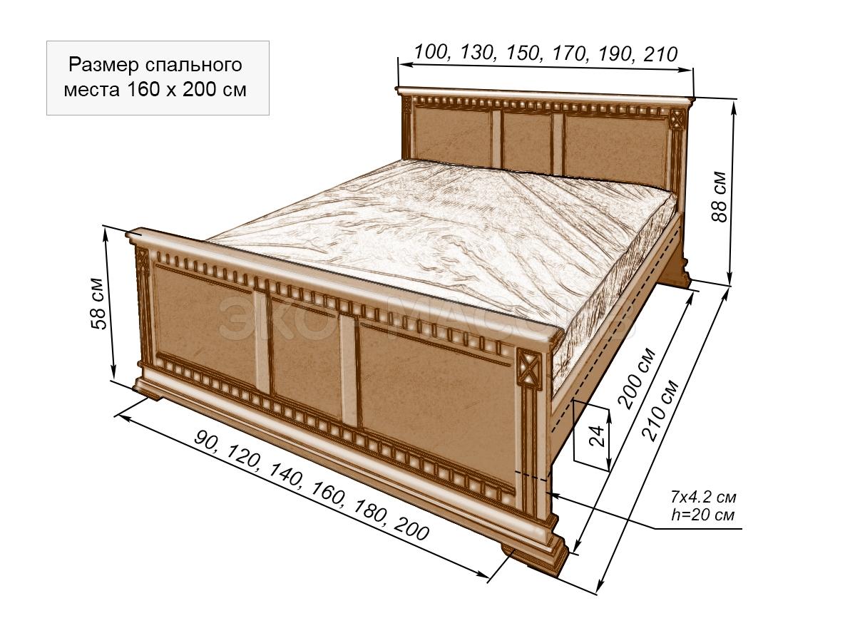 Односпальная кровать своими руками с размерами