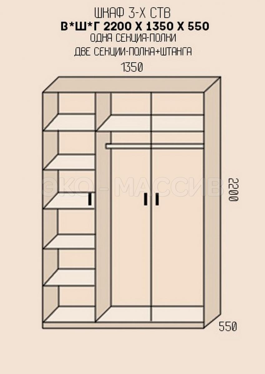 Как рассчитать шкаф с распашными тремя дверцами - karadakenk.
